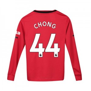 Manchester United Home Shirt 2019 - 20 - Kids - Long Sleeve with Chong 44 printing