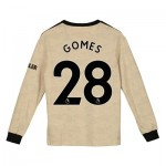 Manchester United Away Shirt 2019 - 20 - Kids - Long Sleeve with Gomes 28 printing