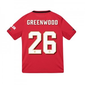 Manchester United Cup Home Shirt 2019 - 20 - Kids with Greenwood 26 printing
