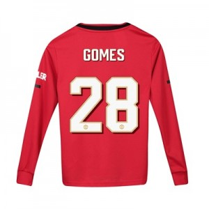 Manchester United Cup Home Shirt 2019 - 20 - Kids - Long Sleeve with Gomes 28 printing