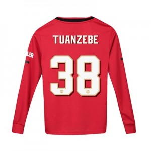 Manchester United Cup Home Shirt 2019 - 20 - Kids - Long Sleeve with Tuanzebe 38 printing