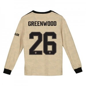 Manchester United Cup Away Shirt 2019 - 20 - Kids - Long Sleeve with Greenwood 26 printing