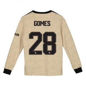 Manchester United Cup Away Shirt 2019 - 20 - Kids - Long Sleeve with Gomes 28 printing