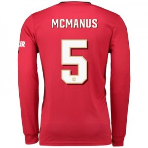 Manchester United Cup Home Shirt 2019 - 20 - Long Sleeve with McManus 5 printing