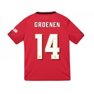 Manchester United Cup Home Shirt 2019 - 20 - Kids with Groenen 14 printing