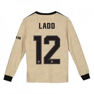 Manchester United Cup Away Shirt 2019 - 20 - Kids - Long Sleeve with Ladd 12 printing