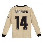 Manchester United Cup Away Shirt 2019 - 20 - Kids - Long Sleeve with Groenen 14 printing