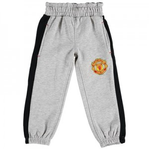 Manchester United Core Fleece Joggers - Grey Marl - Kids