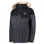 Manchester United Columbia Barlow Pass 550 TurboDown Quilted Jacket - Black - Mens