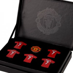 Manchester United Magnificent 7 Gift Badge Set
