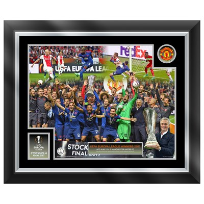 Manchester United Europa League 2017 Final Celebration Framed Print - 20 x 16 Inch