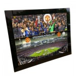 Manchester United Europa League 2017 Final Celebration-Line Up Glass Print - 8 x 6 Inch