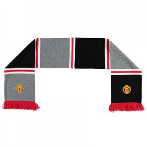 Manchester United Bar Scarf - Grey - Adult