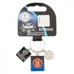 Manchester United UEFA Champions League 3 Piece Keyring