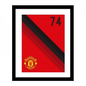 Manchester United Personalised Stripe Print