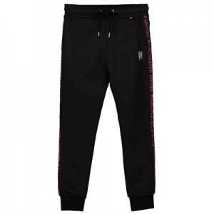 Manchester United Embroidered Devil Joggers - Black - Boys