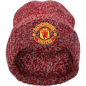 Manchester United New Era Cuff Knit Hat - Scarlet Marl - Adult