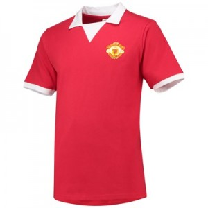 Manchester United 1973 No 7 Retro Shirt - Red - Mens