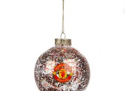Manchester United Christmas Large Sequin Bauble