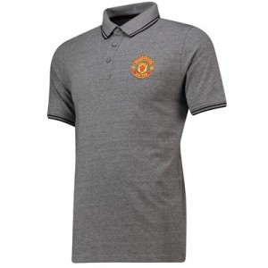 Manchester United Core Polo Shirt - Grey - Mens