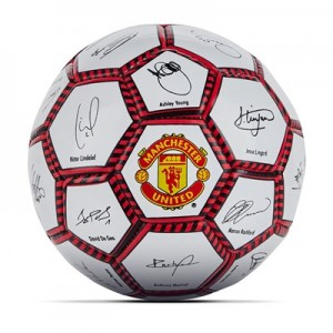 Manchester United Signature PVC Football - White - Size 1