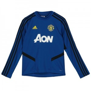 Manchester United LS Training Top - Blue - Kids