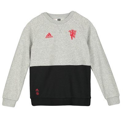 Manchester United Crew Sweat - Grey - Kids