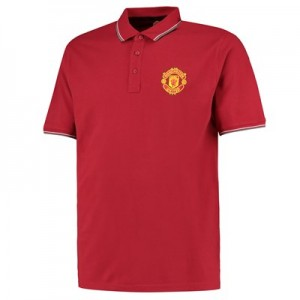 Manchester United Core Crest Polo Shirt - Burnt Red - Mens