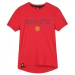 Manchester United Core Raised Rubber Print T-Shirt - Red - Boys