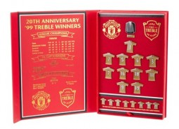 Manchester United The Treble 20th Anniversary Limited Edition Badge Set