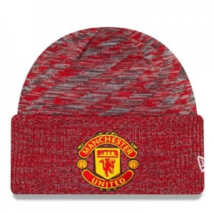 Manchester United New Era Oversized Pattern Cuff Knit - Scarlet - Adult