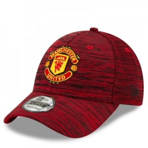 Manchester United New Era Engineered 9FORTY Adjustable Cap - Scarlet - Adult