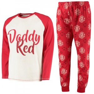 Manchester United Daddy Red Pyjama Set - Red - Mens