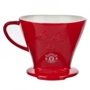 Manchester United Melitta Porcelain Pour Over Filter Cone - Red - Size 1X4