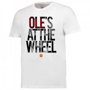 Manchester United Oles At The Wheel T Shirt - White - Mens
