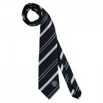 Manchester United Crest Striped Tie - Navy/White - Poly