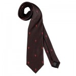 Manchester United Repeat Devil Polka Dot Tie - Black/Red - Poly