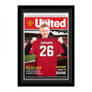 Manchester United Personalised Magazine Cover - Framed