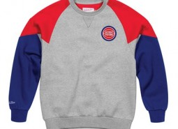 Detroit Pistons Trading Block Crew By Mitchell & Ness - Mens