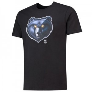 Memphis Grizzlies Midnight Mascot Core T-Shirt - Black - Mens