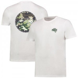 Orlando Magic Camo Team Logo Core T-Shirt - White - Mens
