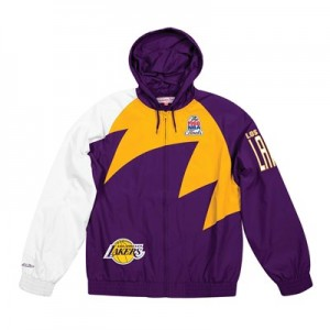 Los Angeles Lakers Sharktooth Jacket By Mitchell & Ness - Mens