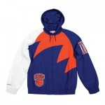 New York Knicks Sharktooth Jacket By Mitchell & Ness - Mens