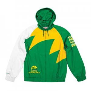 Seattle Supersonics Sharktooth Jacket By Mitchell & Ness - Mens