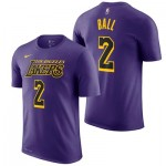 Los Angeles Lakers Nike City Edition Name & Number T-Shirt - Lonzo Ball - Youth