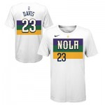 New Orleans Pelicans Nike City Edition Name & Number T-Shirt - Anthony Davis - Youth