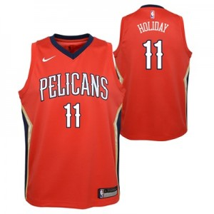 Nike New Orleans Pelicans Nike Statement Swingman Jersey - Jrue Holiday - Youth New Orleans Pelicans Nike Statement Swingman Jersey - Jrue Holiday - Youth