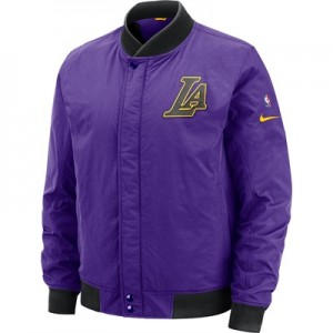 Los Angeles Lakers Nike City Edition Courtside Jacket - Mens
