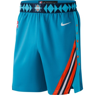 Oklahoma City Thunder Nike City Edition Swingman Short - Mens