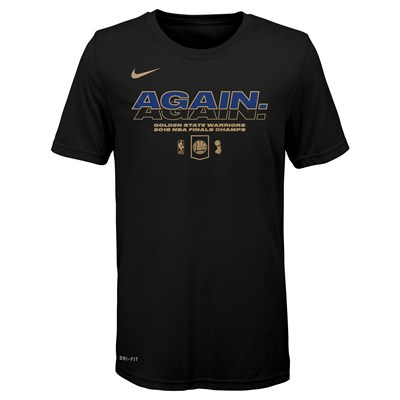 Golden State Warriors Nike Champions 2018 Mantra T-Shirt - Black - Youth